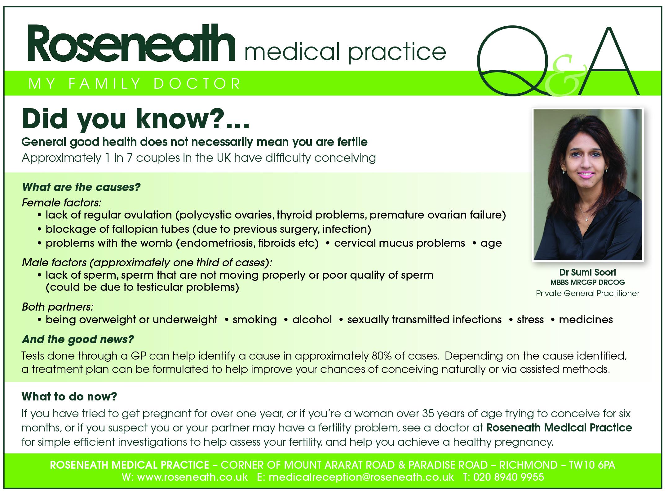 Roseneath HP Medical QA May 16